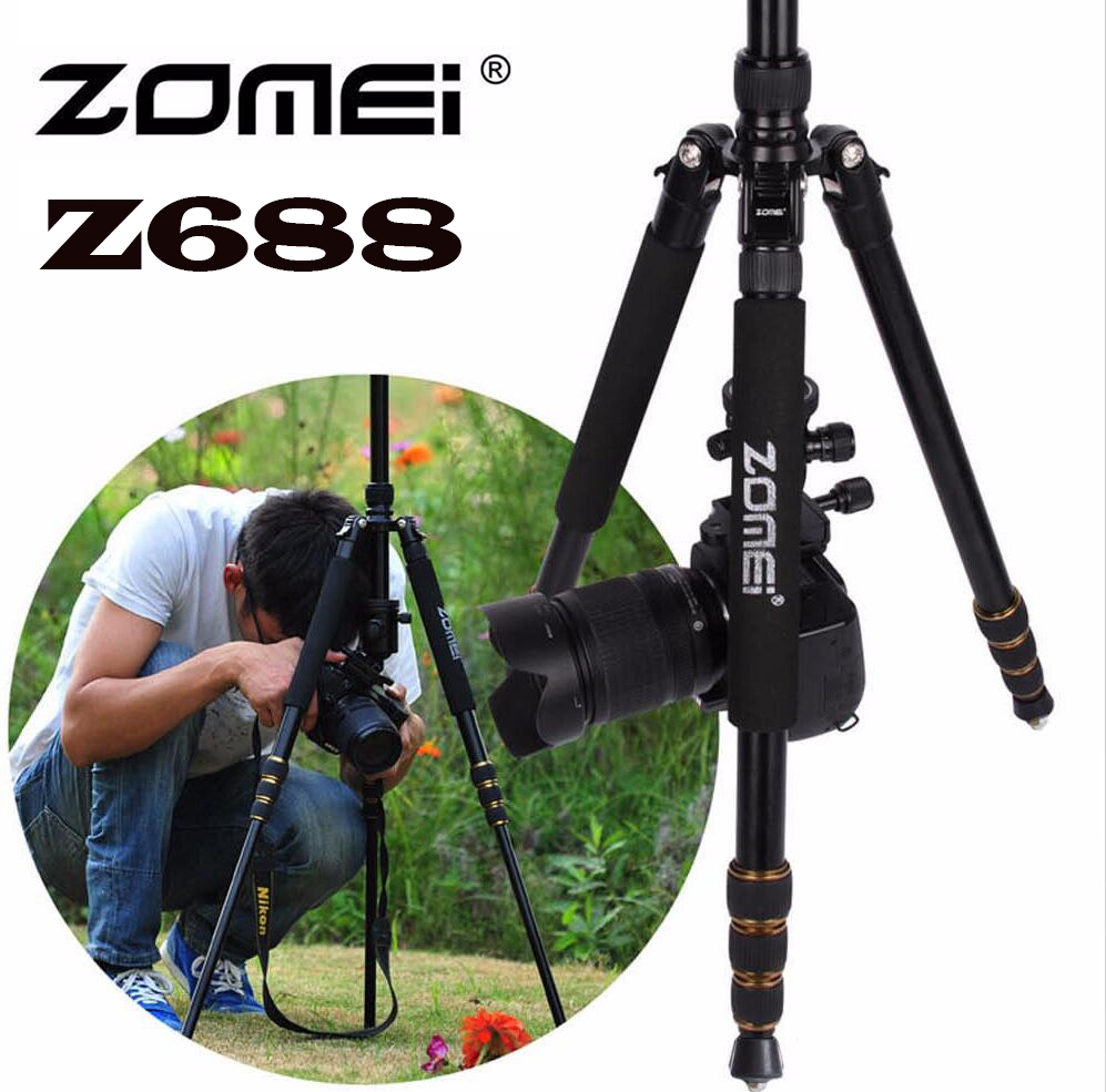 Zomei Z688 Professional Photographic Travel Compact Aluminum Heavy Duty Tripod Monopod&amp;Ball Head for Digital DSLR Camera<br><br>Aliexpress
