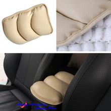 Brand New Beige Car SUV Interior Center Armrest Console Box Soft Pad Cover Cushion PU Mat Free Shipping