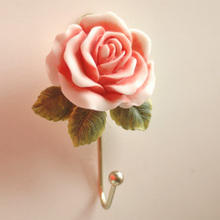Fashion rose hooks clothes hanger wall hook home decoration clothes hooks storage racks flower rails bar wedding party decor
