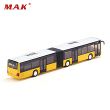 1/50 Scale Yellow Diecast Public Bus Models Link Type with Box Toys For Boys Collections Gifts Displays(China)