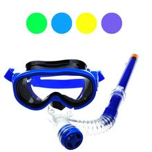 Boys And Girls Children Efficient Anti-fog Multicolor Swimming Goggles Semi-dry Snorkel Equipment No23