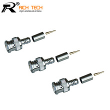 SUPER QUALITY 3PCS/LOT BNC MALE CRIMP TYPE CONNECTOR FOR CCTV SYSTEM BNC FEMALE JACK COUPLER CONNECTOR RG58/RG59/RG6