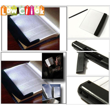 EWS Book Light Reading Led Panel Book Light on your Page Not in your Face Adjustable Lighting(China)