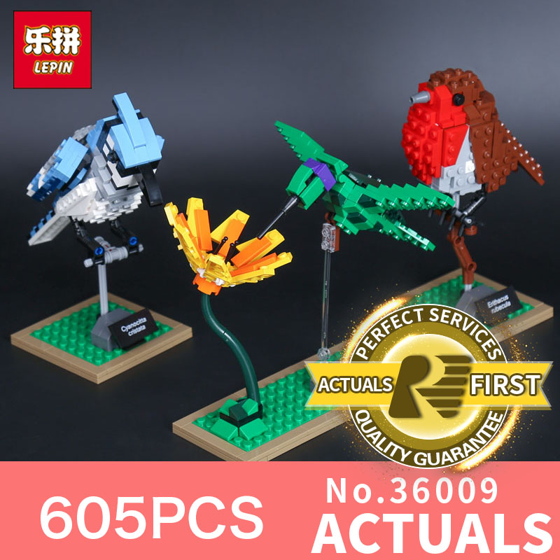 Lepin 36009 605Pcs Genuine Creative Series The Birds Set Children Educational Building Blocks BricksToys Model Gifts 21301<br>