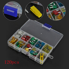 120pcs Mini Standard Zinc Blade Fuses Assortment 5A 10A 15A 20A 25A 30A Auto Boat Truck SUV Car Blade Fuse Kit With Plastic Box(China)