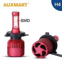 Auxmart H4 LED Headlight Kit 80w SMD CREE Chips Car Led Head Lamp 9003 HB2 High Low Dipped Beam Head Light All In One