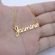 Custom Name Necklace Personalized Actual Handwriting Signature Pendant Necklace Women Men Choker Jewelry Customized Gift For Her(China)