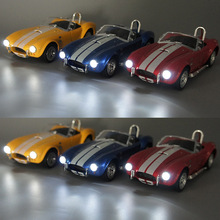 1:32 Scale 1965 Shelby Cobra Vintage Diecast Metal Classic Car Model Toy Pull Back For Kids Gifts Toy free shipping