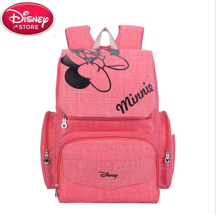 Disney Mickey Minnie Baby Diaper Bags Large Capacity Waterproof Travel Bag Nappy Backpack Maternity Bag Mommy Bag