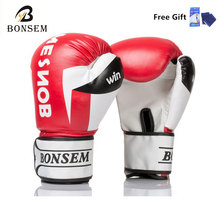 10OZ Free Shipping High Quality PU mateial Muay Thai Sanda Sandbag Kick Boxing Gloves Original 3 colors for adult(China)