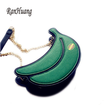 RanHuang New 2017 Fruit 3D Bags Women's Banana Design Cute Shoulder Bags Ladies Small Messenger Bags Chains Crossbody Bags A847