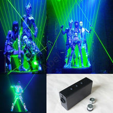 Modules handheld double green laser sword for laser man and laser show 200mw 532nm(China)