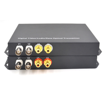Multifunction Digital 4 Channel Video Audio Data Optical Media Converters Transmitter Receiver For CCTV Security System