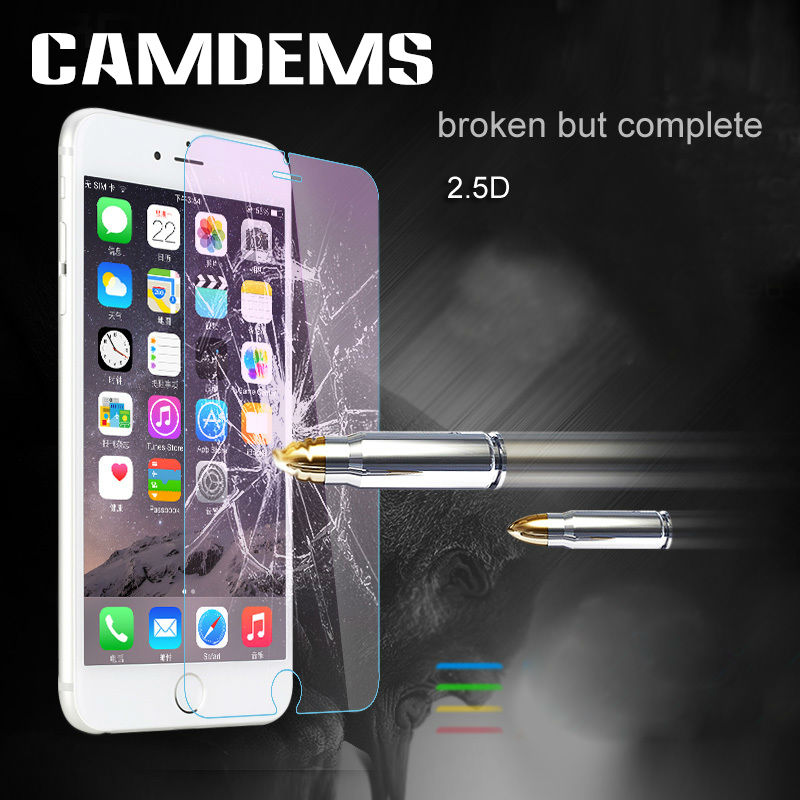 CAMDEMS 500pcs iphone 8 8plus X 7 7plus Iphone 6 6s 6 plus 5s 4s protective film 2.5D 0.3mm Tempered Glass screen protector