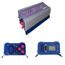 45-90V AC ,190-260V AC  2000W mppt grid tie inverters LED display for 3phase AC wind turbine with dump load , 2kw wind inverter