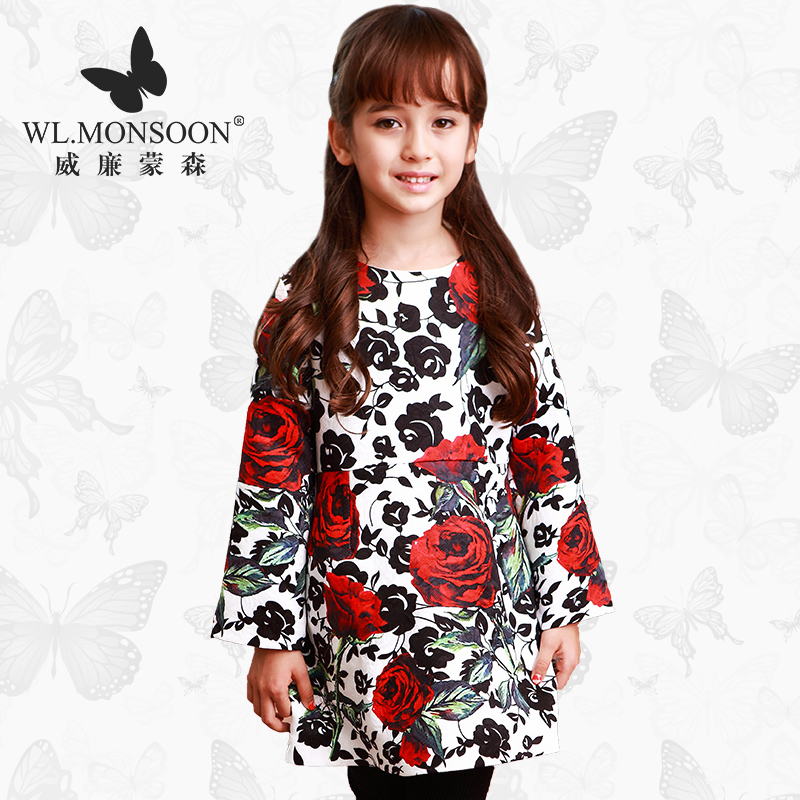Princess Dress Brand WL.MONSOON Autumn Toddler Girls Dresses Long Sleeve Floral Dress Robe Enfant Kids Dresses For Girls 6<br><br>Aliexpress