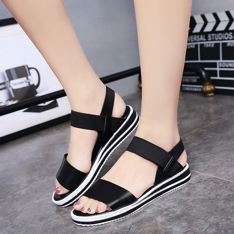 sandalias mujer 2017 summer gladiator sandals women aged leather flat fashion sandals comfortable ladies shoes<br><br>Aliexpress