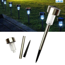 10pcs/lot Stainless steel Solar lawn light for garden drcorative 100% solar power Light Outdoor solar lamp luminaria Landscape(China)