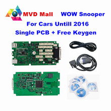 Newest V5.00.12 R2 WoW SNOOPER With Bluetooth+Single PCB+Keygen Car Truck Diagnostic Tool Up To 2016 Better Than TCS CDP PRO