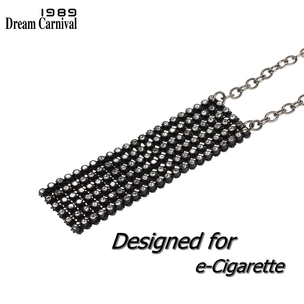 DP0901B women crystals pendant necklace designed for Juul Vape e cigarette pouch  (8)
