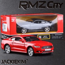 Free Shipping RMZ city 1:36 2015 Ford Mustang GT Car Education Model Classical Pull back Diecast Metal toy For Collection Gifts(China)