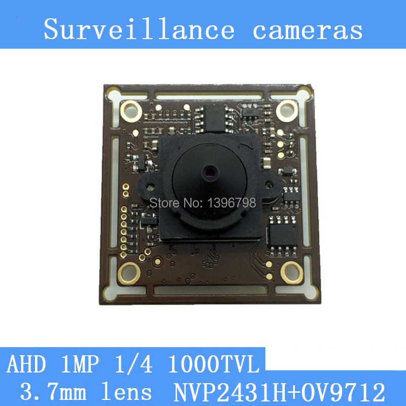 1MP 1/4 CMOS NVP2431H + AR9712 chip 1280 * 720 AHD 1000TVL CCTV surveillance cameras Module night vision 3.7mm pinhole lens<br><br>Aliexpress