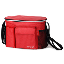 insular Multi-Function Stroller Hanging Bag Baby Diaper Nappy Changing Bag Waterproof Mummy Shoulder Bag Red(China)
