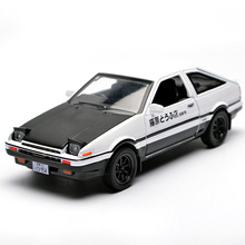 1:32 kids toys AE86 metal toy cars model with light and sound pull back car miniatures gifts for boys children