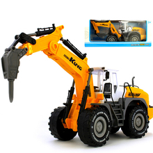 7 Style China Truck High Quality Inertia Model Car Tractor Diecasts Engineering Toy Cehicles Excavator Toy For Children Gift Box