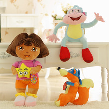 3PCS/SET Dora The Explorer Swiper Fox Boots The Monkey Plush Toy Soft Doll 22-25cm