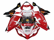 For Yahama YZF1000 YZF R1 2007 2008 ABS Injection Body Fairing Kit Red VR 46 Edition