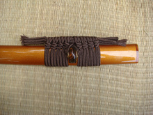A Brand New Japanese sword scabbard Sageo High quality Rope Wrapping Cord FOR-Brown(China)