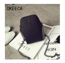 OKEECA Fashion Leisure Phone Small Shoulder Messenger Bag Cellphone Pouch Wallet Case for iPhone Samsung Galaxy