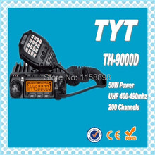 DHL freeship+New TYT TH-9000D Mobile ham radio 50W  200 Channel amateur radio transceiver th 9000d long range walkie talkie 30km