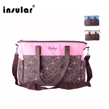 Insular Mummy Bag Diaper Storage Multifunctional Waterproof Separate Bag Nappy Maternity Handbag Baby Tote Diaper Organizer 8853