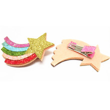 Cute!Children Sequin Rainbow Hair Clips Baby Girls Paillette Cloud Moon Hair Clip Korean Birthday Christmas Hair Accessories
