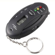 Free shipping! 10pcs/lot,Breath Alcohol tester with clock & timer display, flashlight, 3 LED indication(China)