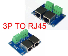 Free shipping 1 pcs RJ45 to 3P DMX512 Relays led connector use for DMX 512 LED controller decoder