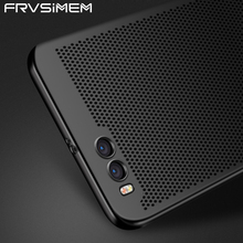 For Xiaomi Mi 5 6 Mi6 Plus 5S Mesh Air Holes Breathable Case Matte Cover For Redmi 4X Note 3 Pro 4 4X Pro Global Version Note4