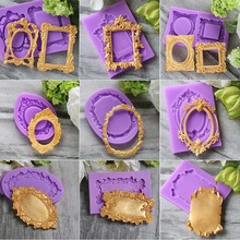 Aouke Beautiful Frame Shape Silicone Cake Molds,Fondant DIY Bakeware Decorate