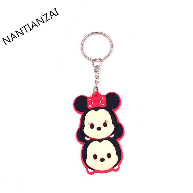1PCS-Cute-Cartoon-TSUM-TSUM-Mickey-Minnie-Donald-Cartoon-Doll-Keychain-Kids-Gift-Key-ring-Backpack (2)