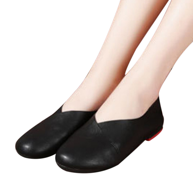 Genuine Cow Leather Hand-Sewn Loafers