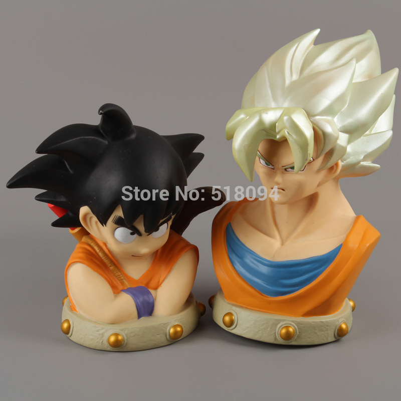 Anime Cartoon Dragon Ball Z Son Goku PVC Action Figure Collectible Model Toy Piggy Bank Free Shipping DBFG152<br><br>Aliexpress