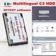 Multilingual OBD2 connector star diagnosis C3 201507 software HDD for Mercedes Benz cars Suitable for many kinds of laptop stock