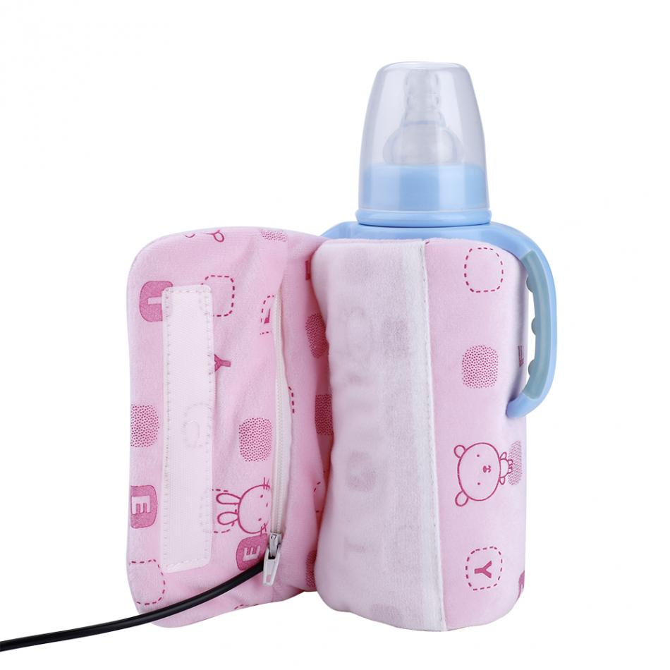 TOPINCN USB Beb/é Calentador de Biberones Port/átil Al Aire Libre Taza de Viaje Calentador de Agua de Leche Calentador Botella de Alimentaci/ón Infantil Bolsa de Aislamiento
