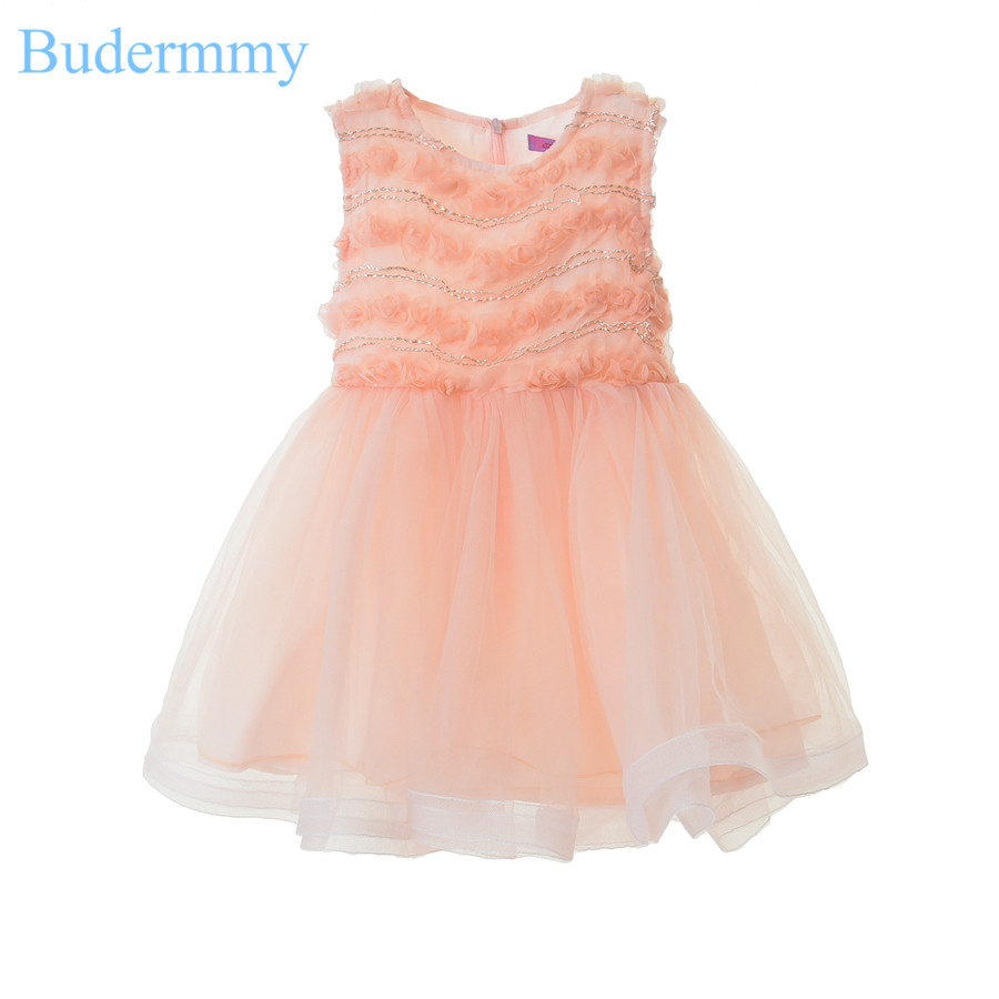 Fashion Girls Flower Dresses Bow Striped Dress For Wedding Party Luxury Vestidos Summer Princess 5 6 7 8 9 10 Years Kids Dress <br>