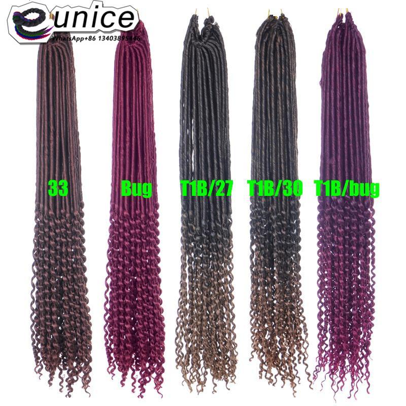 Goddess Faux Locs Crochet Hair Curly Ends Dreadlocks hair extensions  (47)