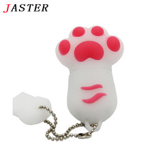 JASTER wholesale 6 colors cute Bear claw memory stick pen drive lovely paw usb flash drive 4GB 8GB 16GB 32GB cartoon gift