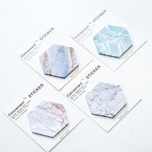 White Island Hexagon Memo Pad N Times Sticky Notes Escolar Papelaria School Supply Bookmark Post it Label