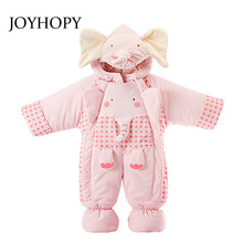 New fashion 2017 Newborn winter outerwear baby rompers Elephant cotton padded infant baby girl clothes thickening jumpsuits